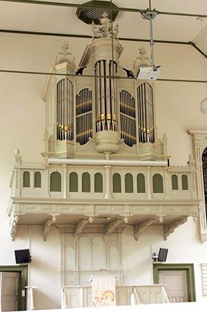 Koudekerk a/d Rijn Geref. Kerk,  nieuwbouw in bestaande kast